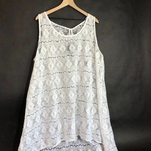 Profile by Gottex White Lace Swim Cover Up Dress L